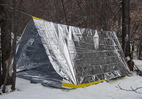 Emergency Mylar Tube Tent